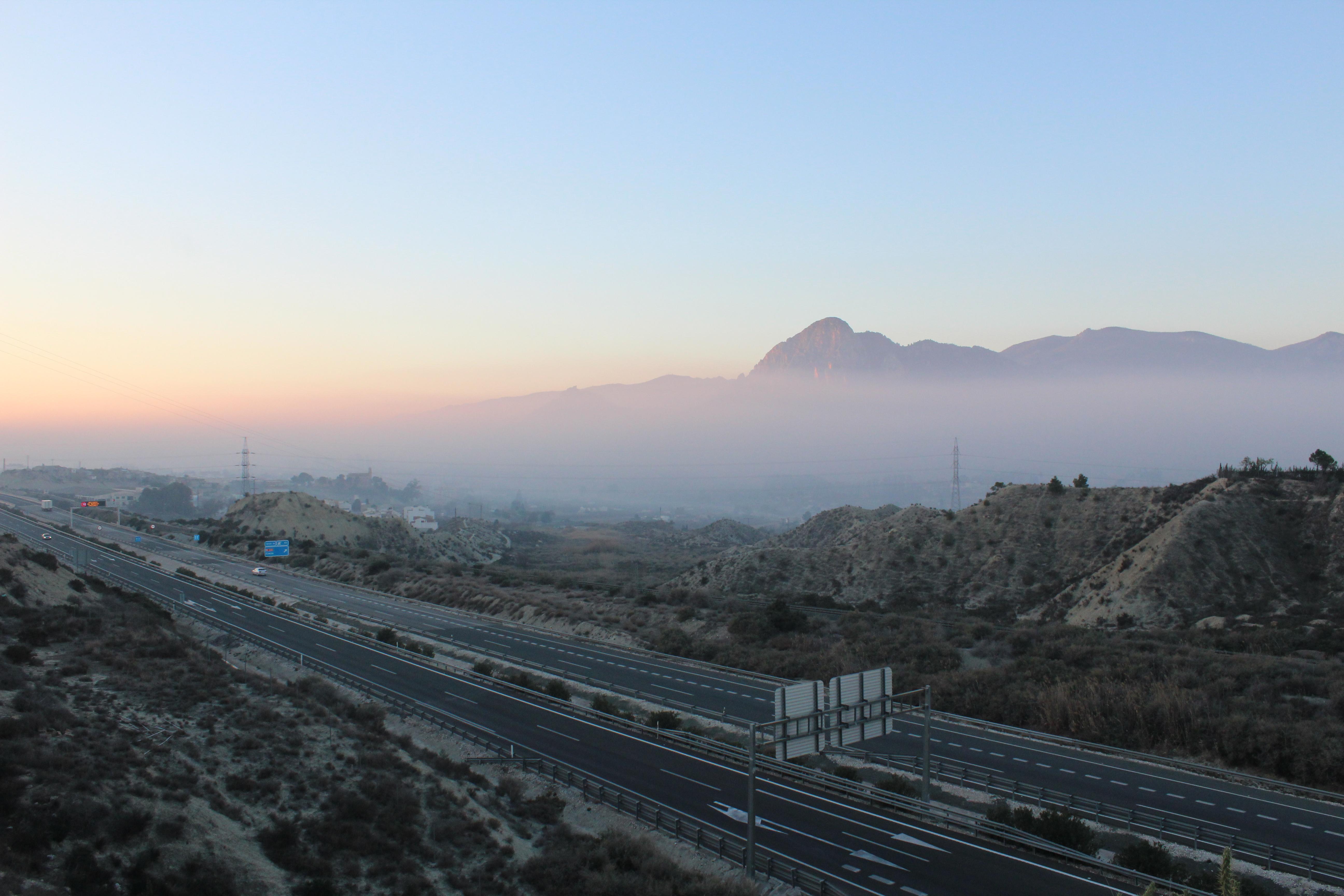 Quema en el entorno de Cieza en febrero de 2016. Imagen: Ecologistas en Acción