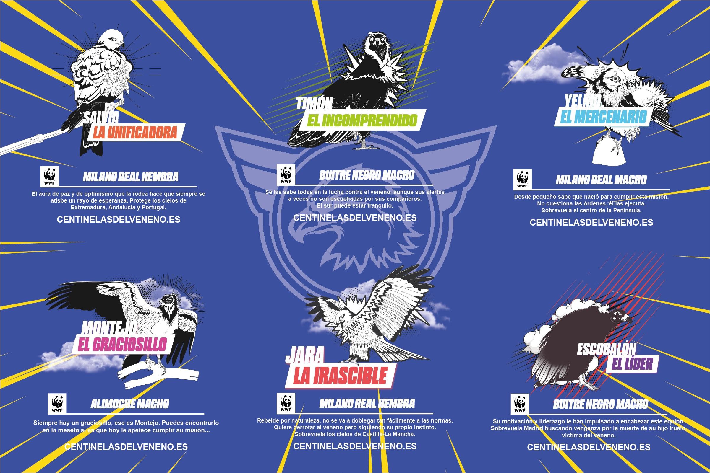 Los seis nuevos centinelas del veneno. Imagen: WWF