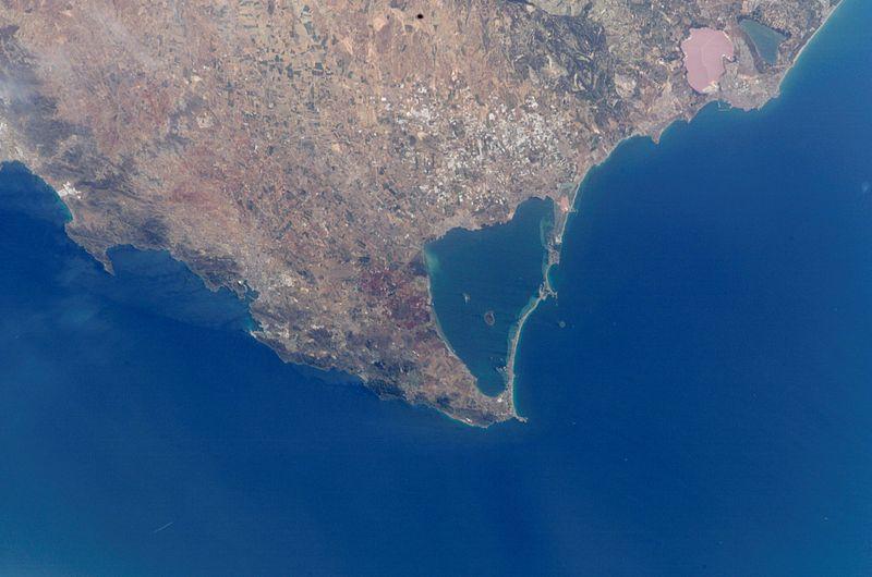 Fotografía de satélite del Mar Menor. Imagen: Miteco