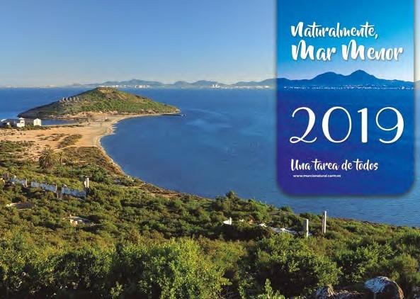 Portada del calendario sobre el Mar Menor. Imagen: CARM