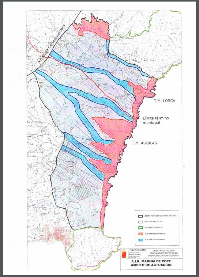 Directrices y Plan de Ordenación Territorial del Litoral de la Región de Murcia. Memoria (2009). Imagen: CARM