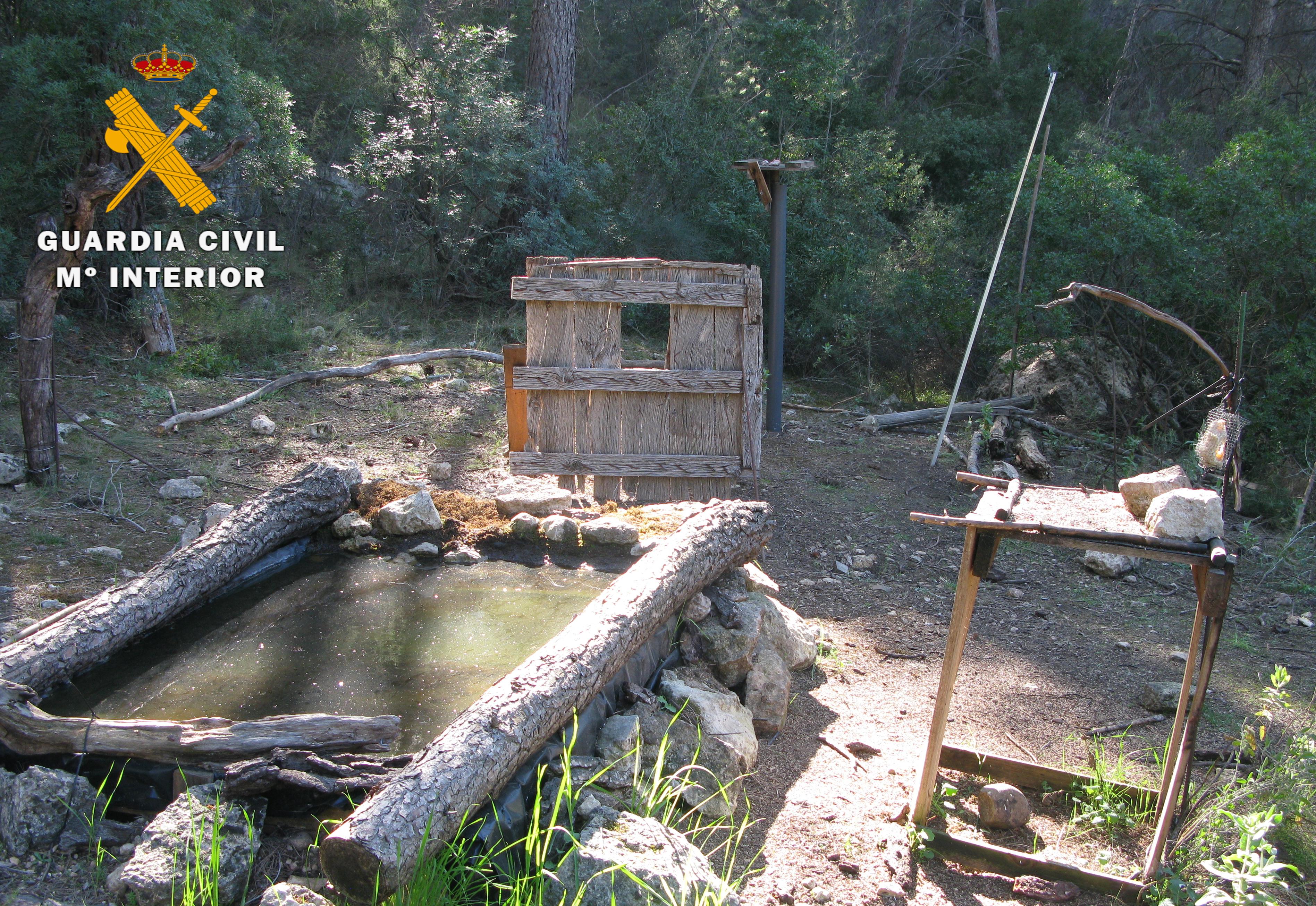 El hide estaba dentro de la zona de cría del halcón peregrino y del águila perdicera. Imagen: Seprona