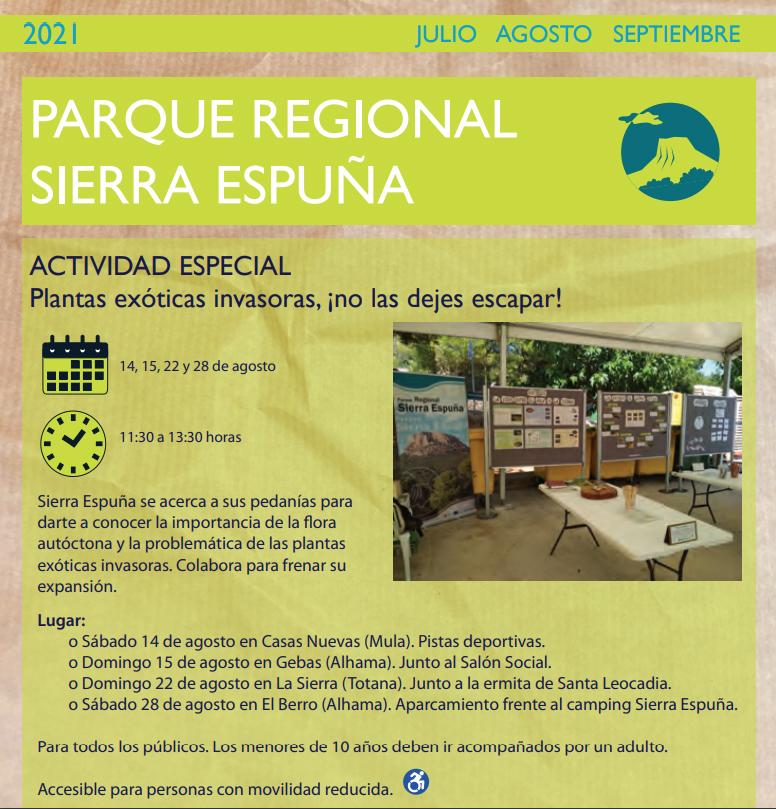 Plantas exóticas invasoras en Sierra Espuña 3, con la CARM