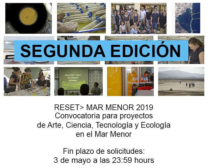 RESET: Mar Menor, convocatoria, cartel