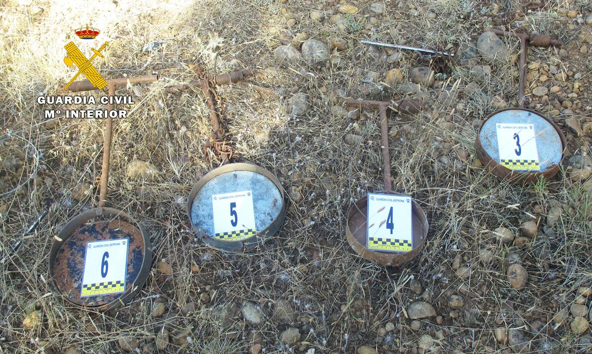 Cepos de fabricación casera. Imagen: Comandancia de la Guardia Civil de Albacete