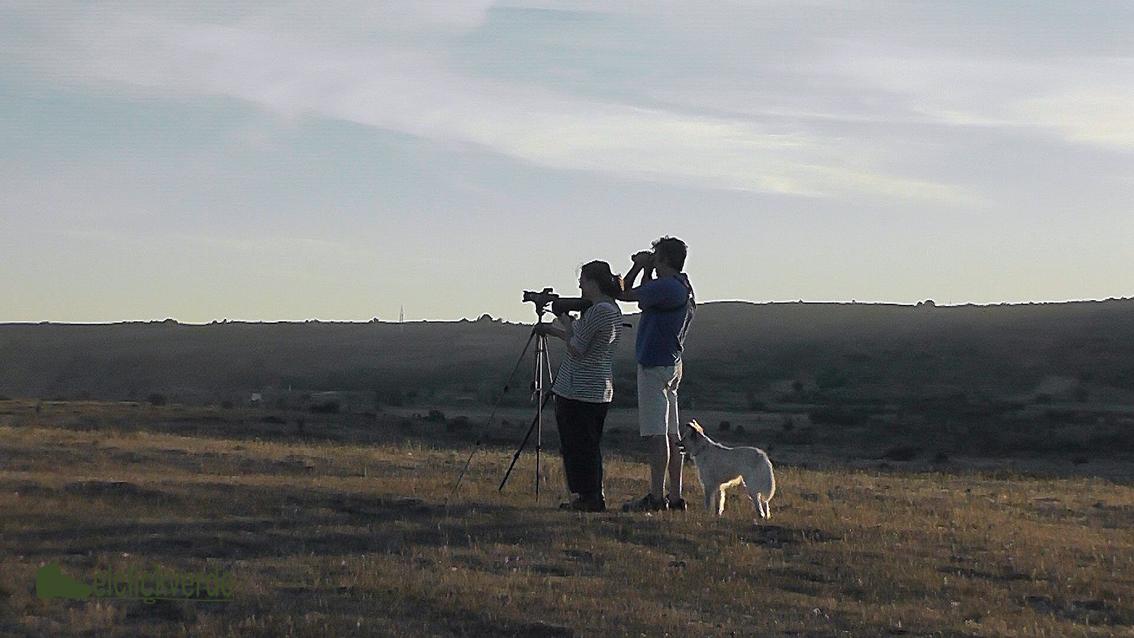 Foto: con Josu Olabarria, nuestro extraordinario guía, en los páramos del Alto de la Mazorra
