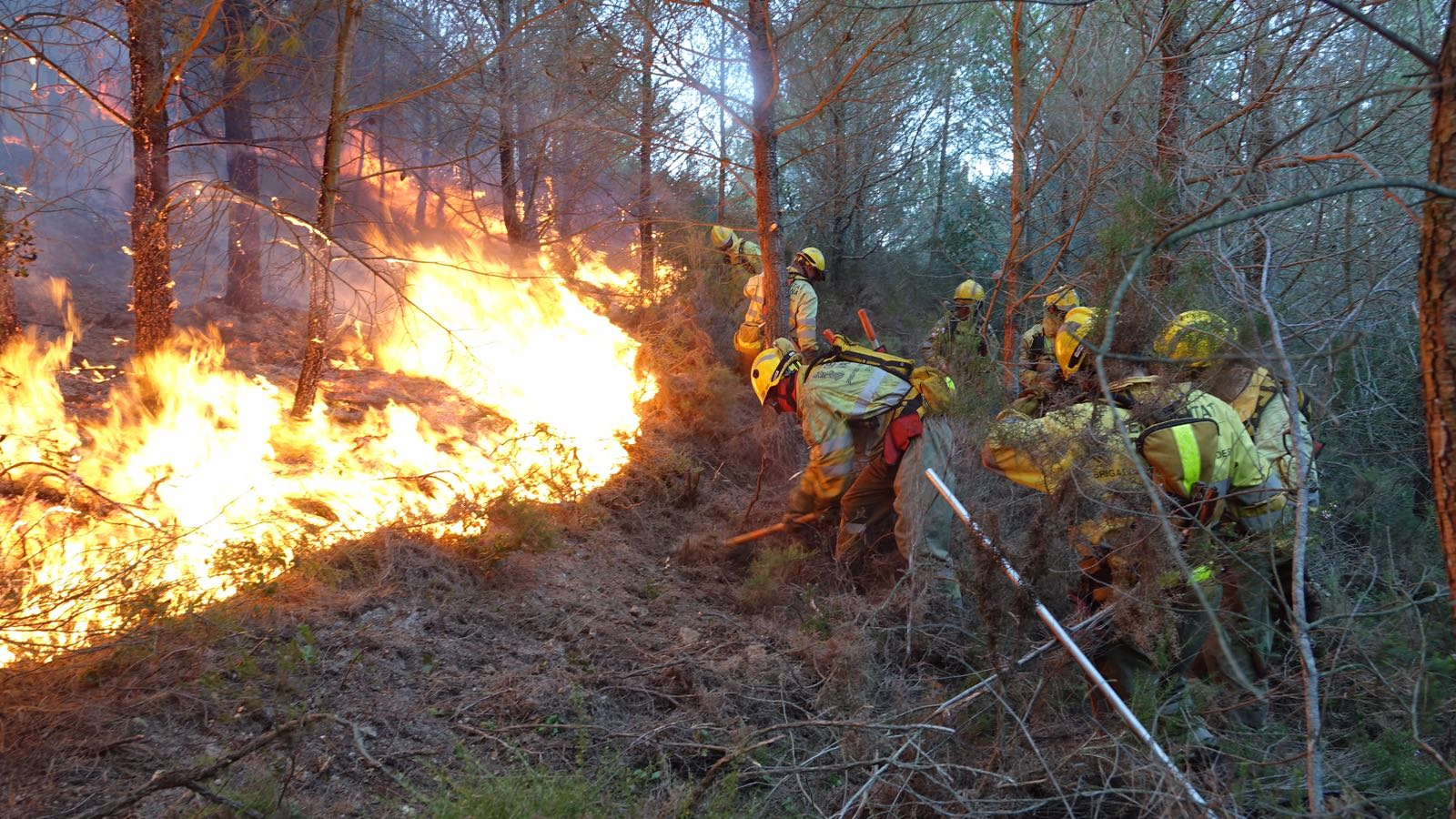 Incendio en Cabanes. Imagen de archivo de la GV