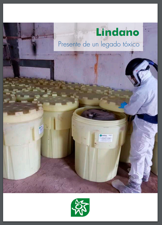 Portada del Informe 'Lindano. Presente de un legado tóxico, una plaga para la salud de nuestros ríos, el medioambiente y las personas', de octubre 2020., de EEA