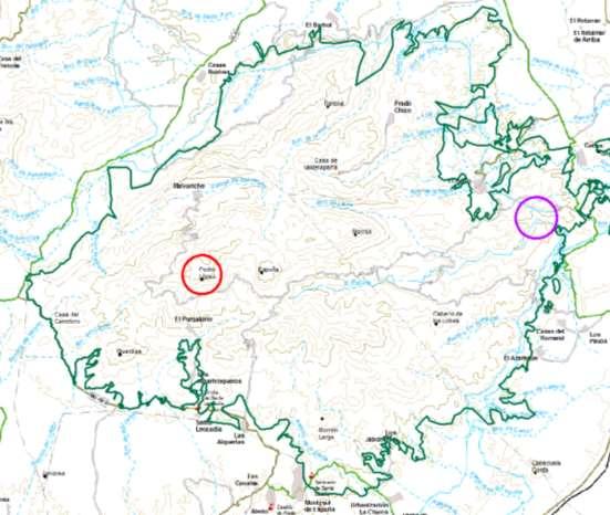 Localización zonas restringidas. Imagen: CARM