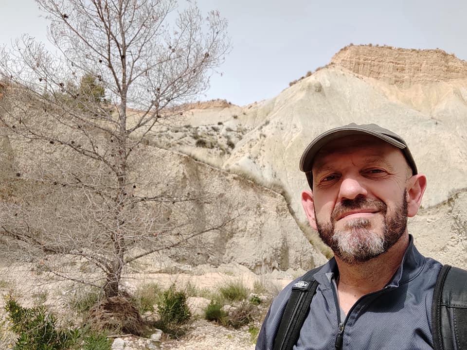 Luis Sáez, en un reciente paseo por Fortuna