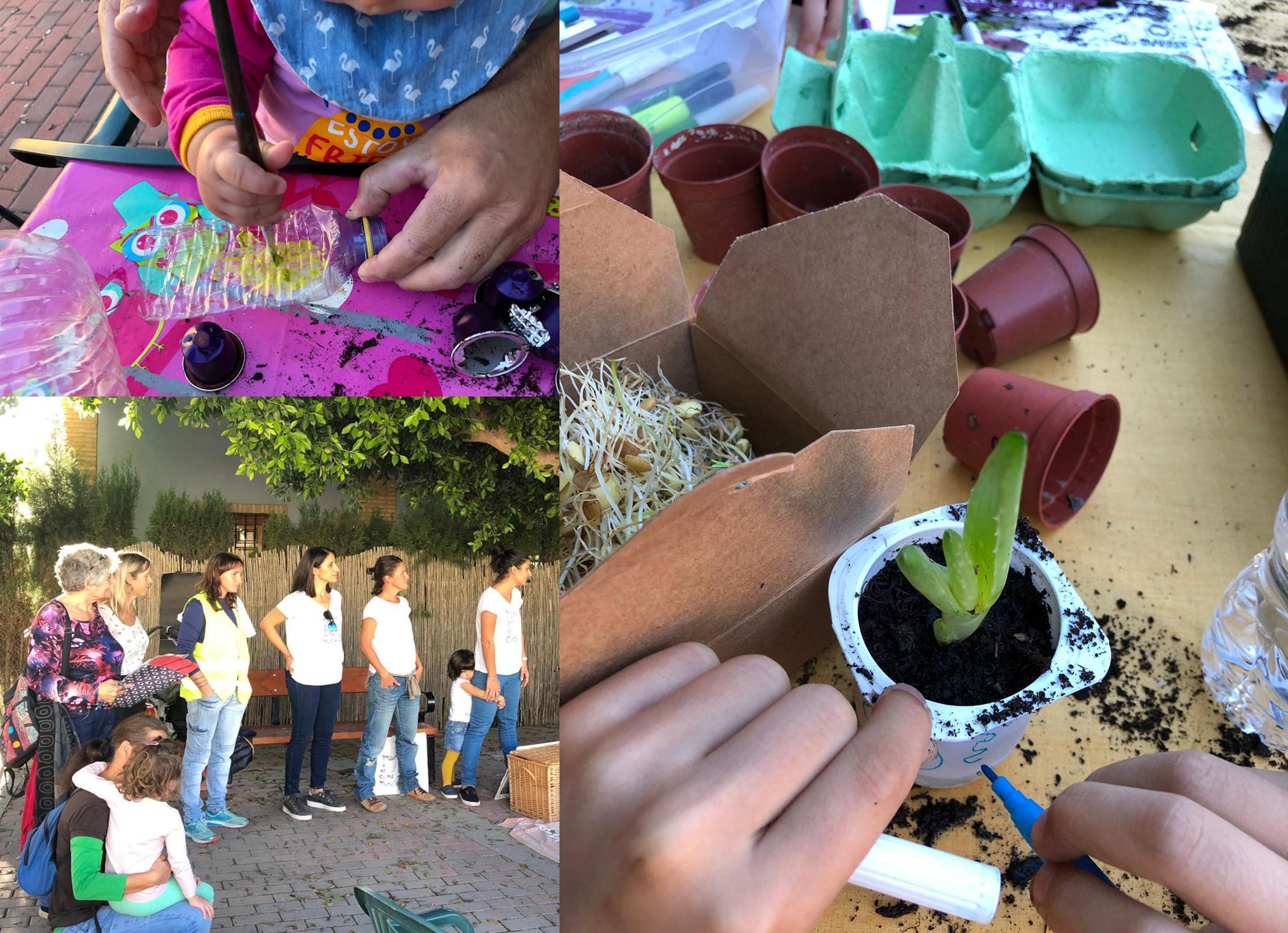 Los pequeños disfrutaron realizando diversas actividades. Imagen: Madres por el Clima Murcia