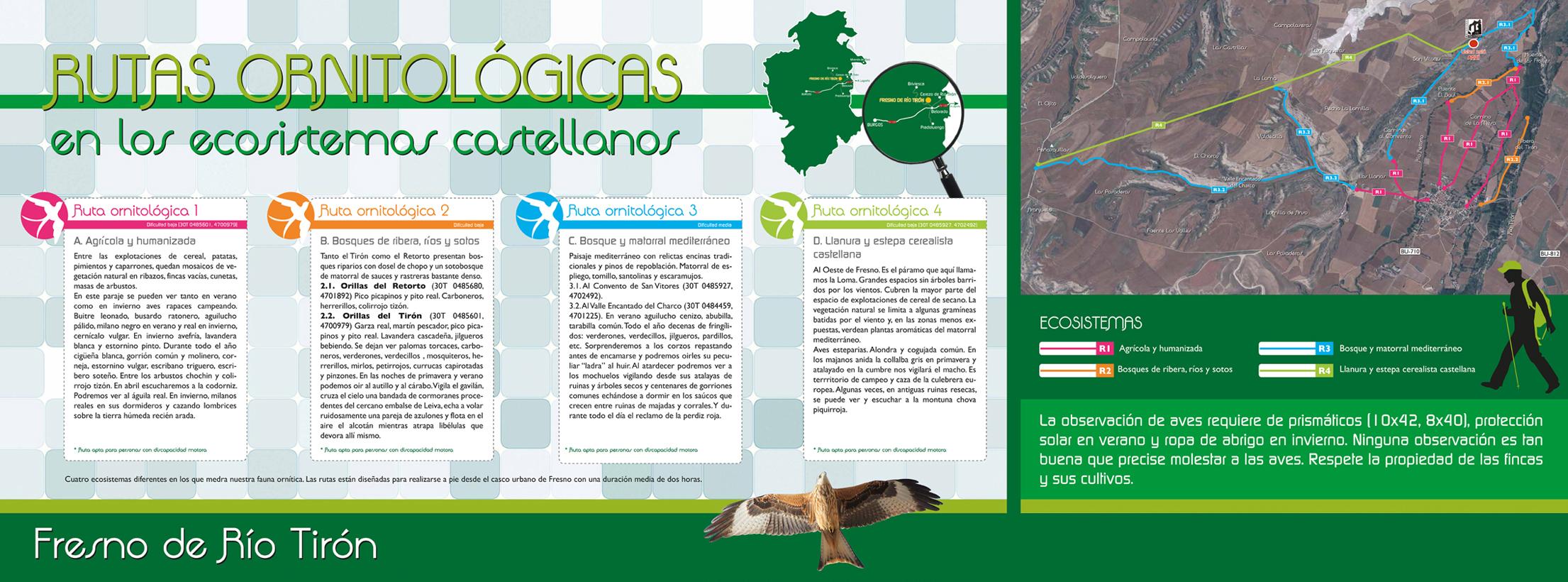 Las cuatro rutas ornitológicas de Fresno de Río Tirón