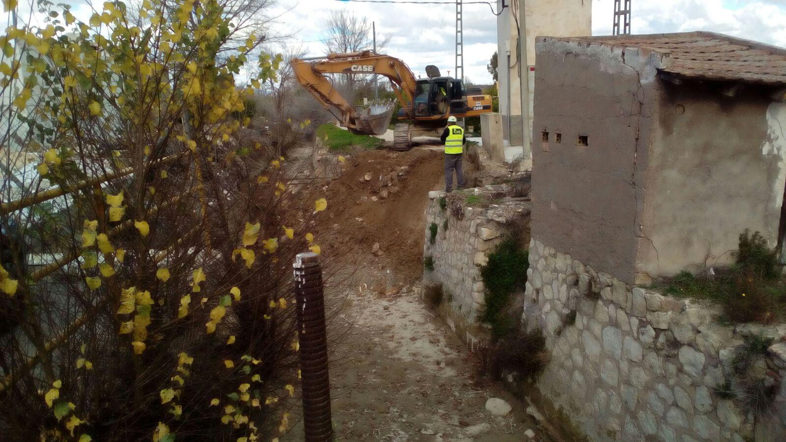 Obras de reparación de la acequia Alquibla. Imagen: Huerta Viva