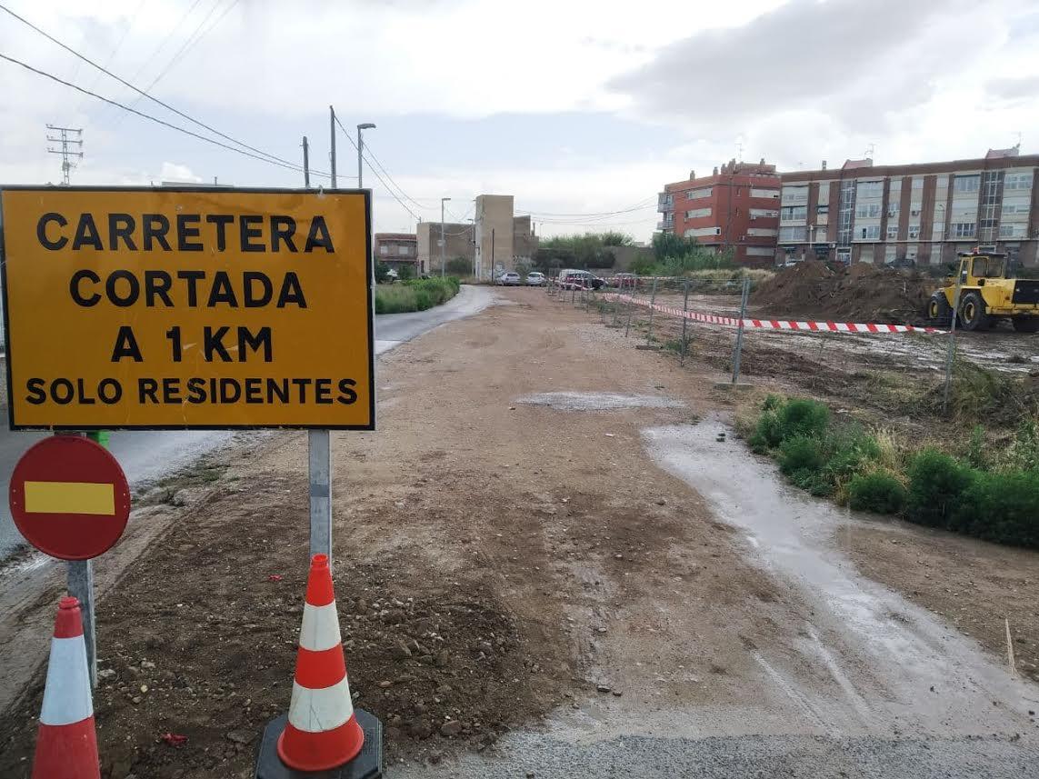 Obras en la rueda de La Ñora y zona costera. Imagen: Huermur