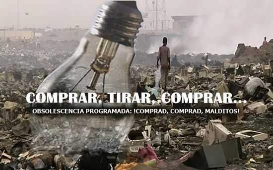 Carátula del documental que denunció la Obsolescencia Programada por primera vez, 'Comprar, tirar, comprar', de Dannoritzer.