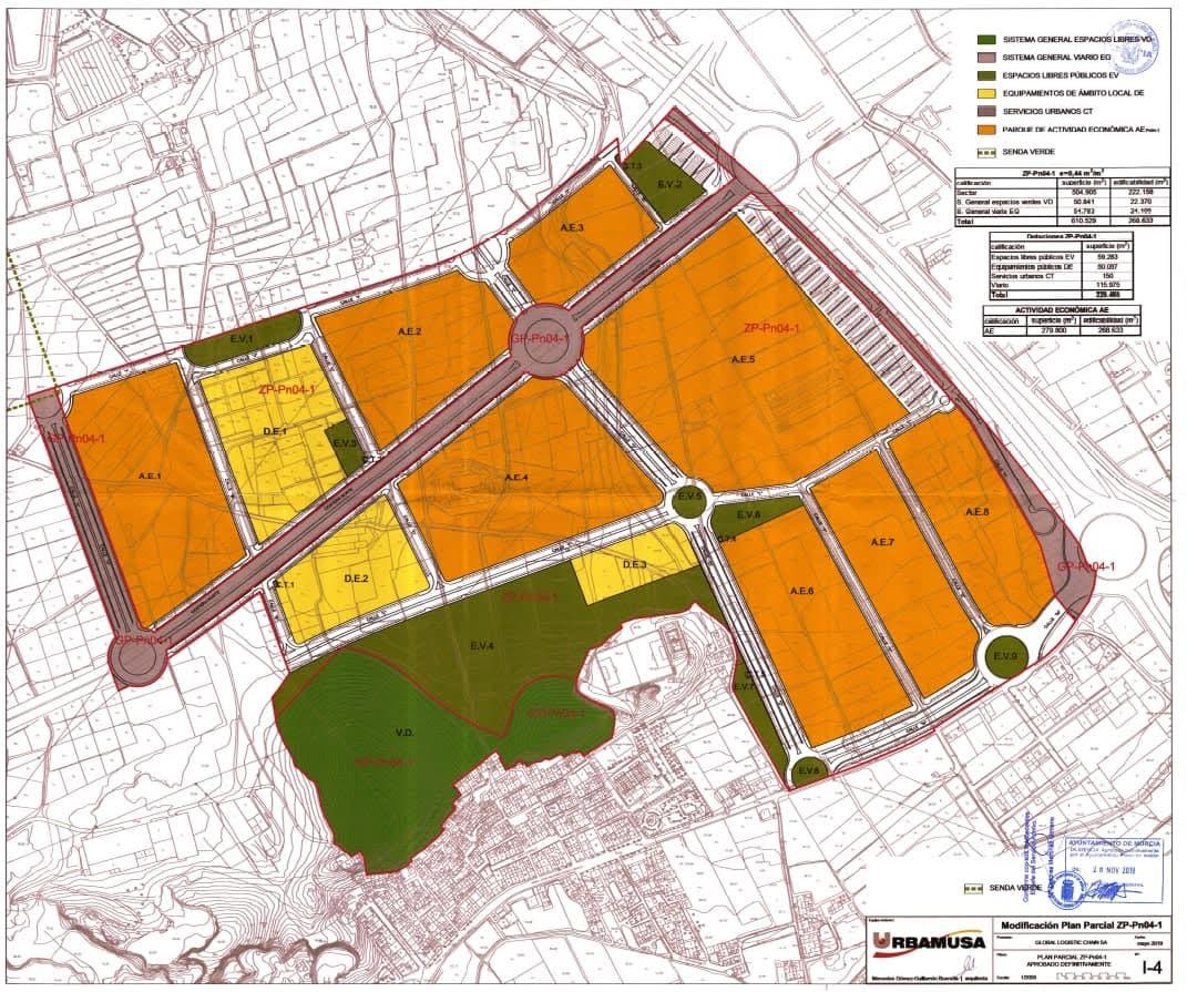 Plano del sector impugnado. Imagen: Huermur