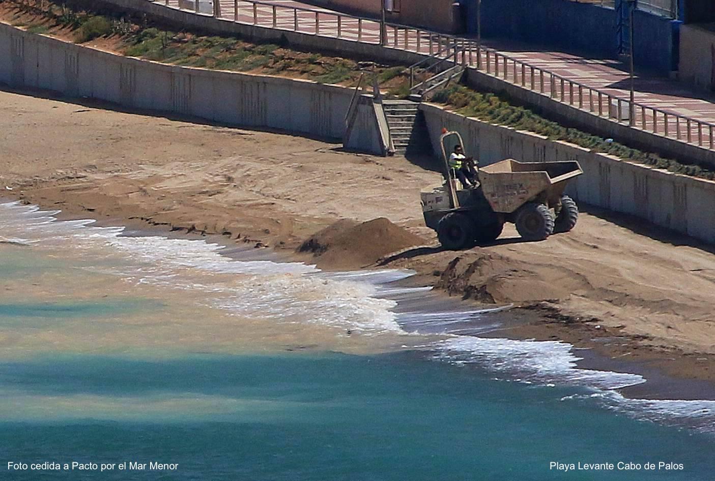 Playa de Levante de Cabo de Palos. Imagen: Pacto por el Mar Menor
