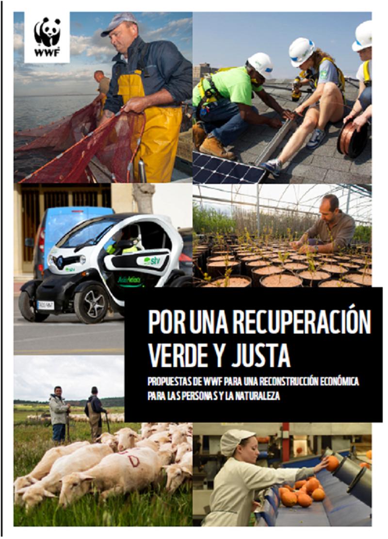 Portada del informe 'Por una recuperación verde y justa', de WWF