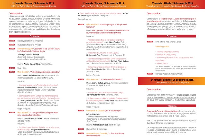 Programa de las Jornadas, para que podáis ver los temas tratados