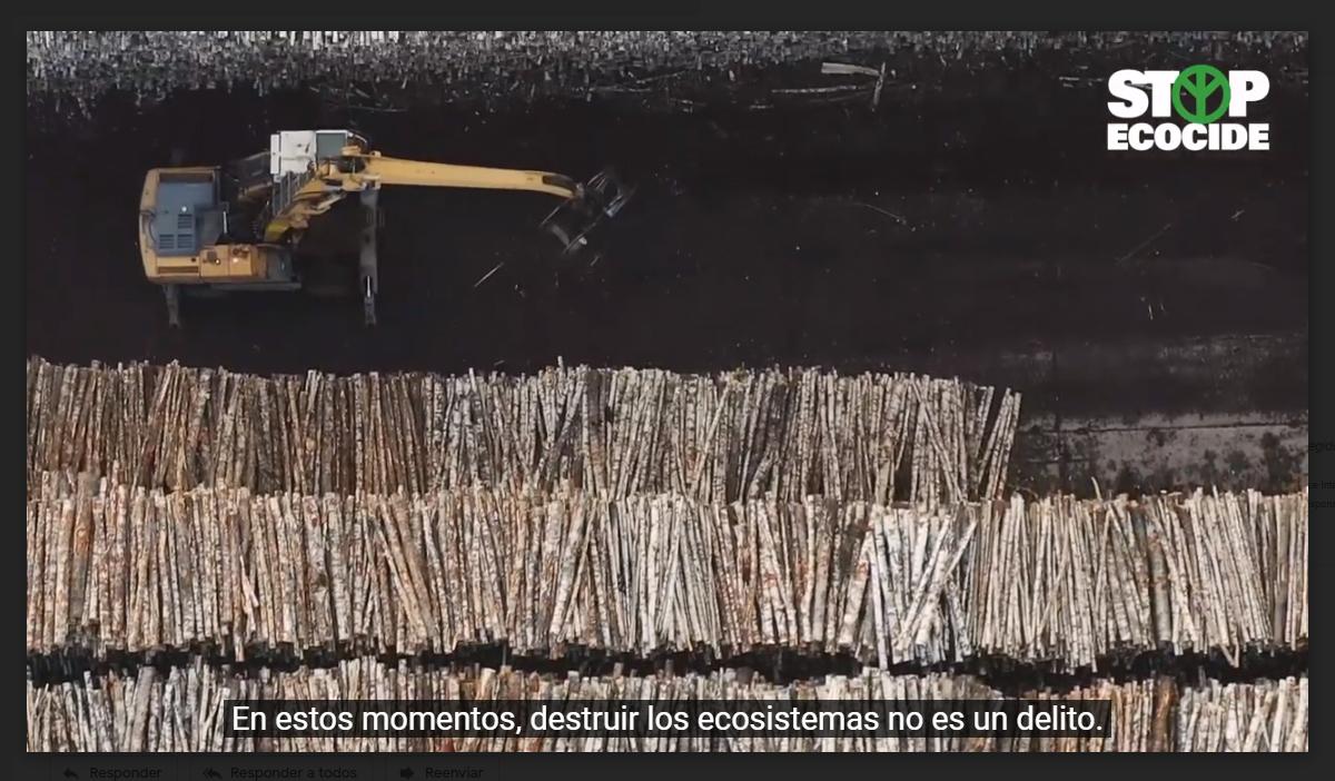 Fragmento del vídeo de Stop Ecocide