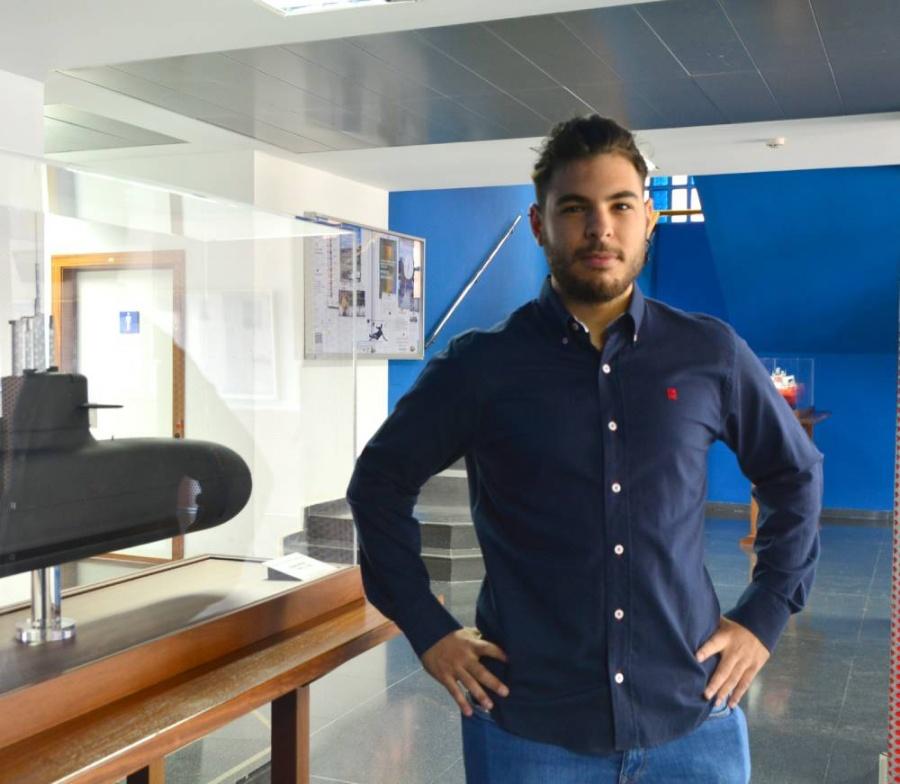 Andrés Pastor, estudiante de Máster en Ingeniería Naval y Oceánica de la Universidad Politécnica de Cartagena. Imagen: UPCT