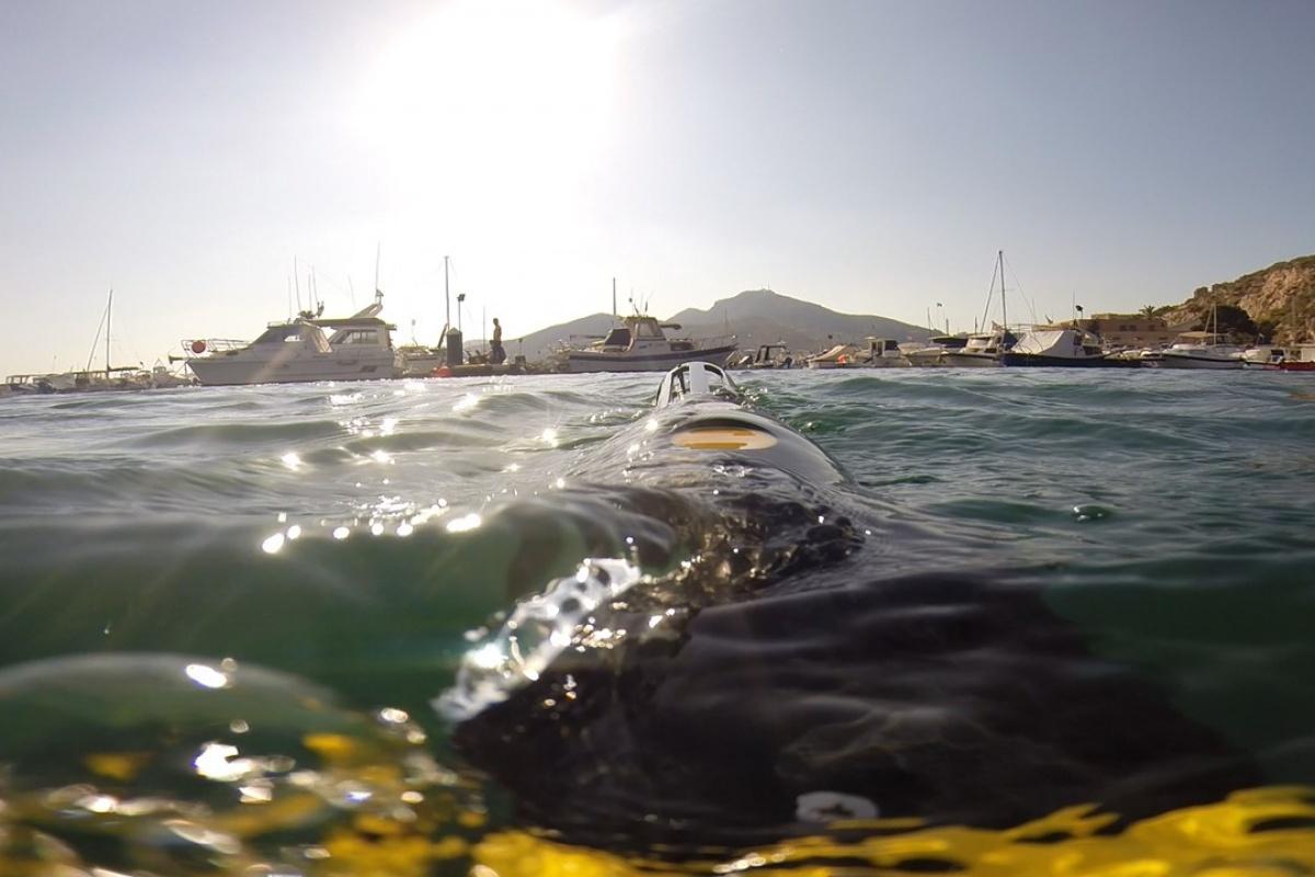 Vehículo submarino para la medición de ruido en el puerto de Cartagena. Imagen: UPCT