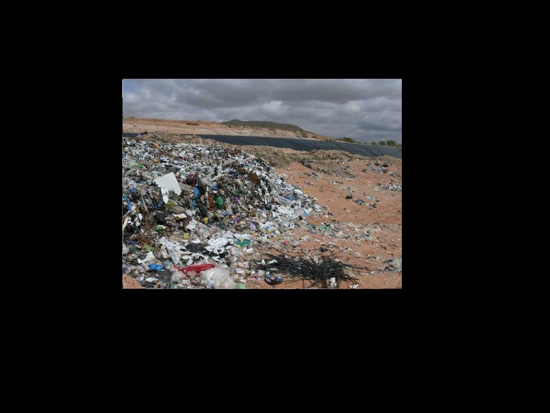 Otra vista del vertedero de Jumilla. Imagen: EEA