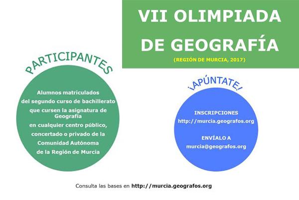 VII Olimpiada de Geografía de la Región de Murcia. Info general