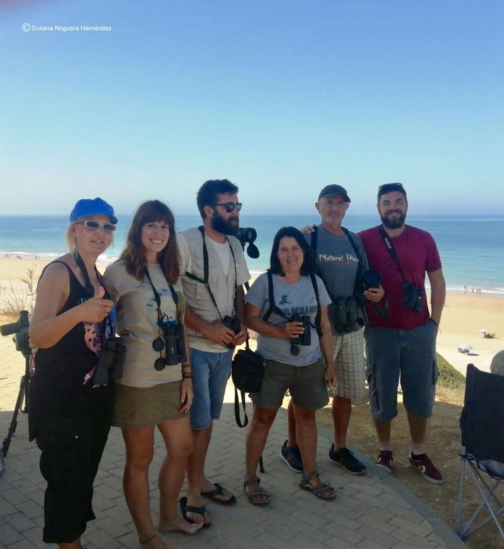 Voluntarios en el censo de espátula en Torre del Puerco. Imagen: SNH