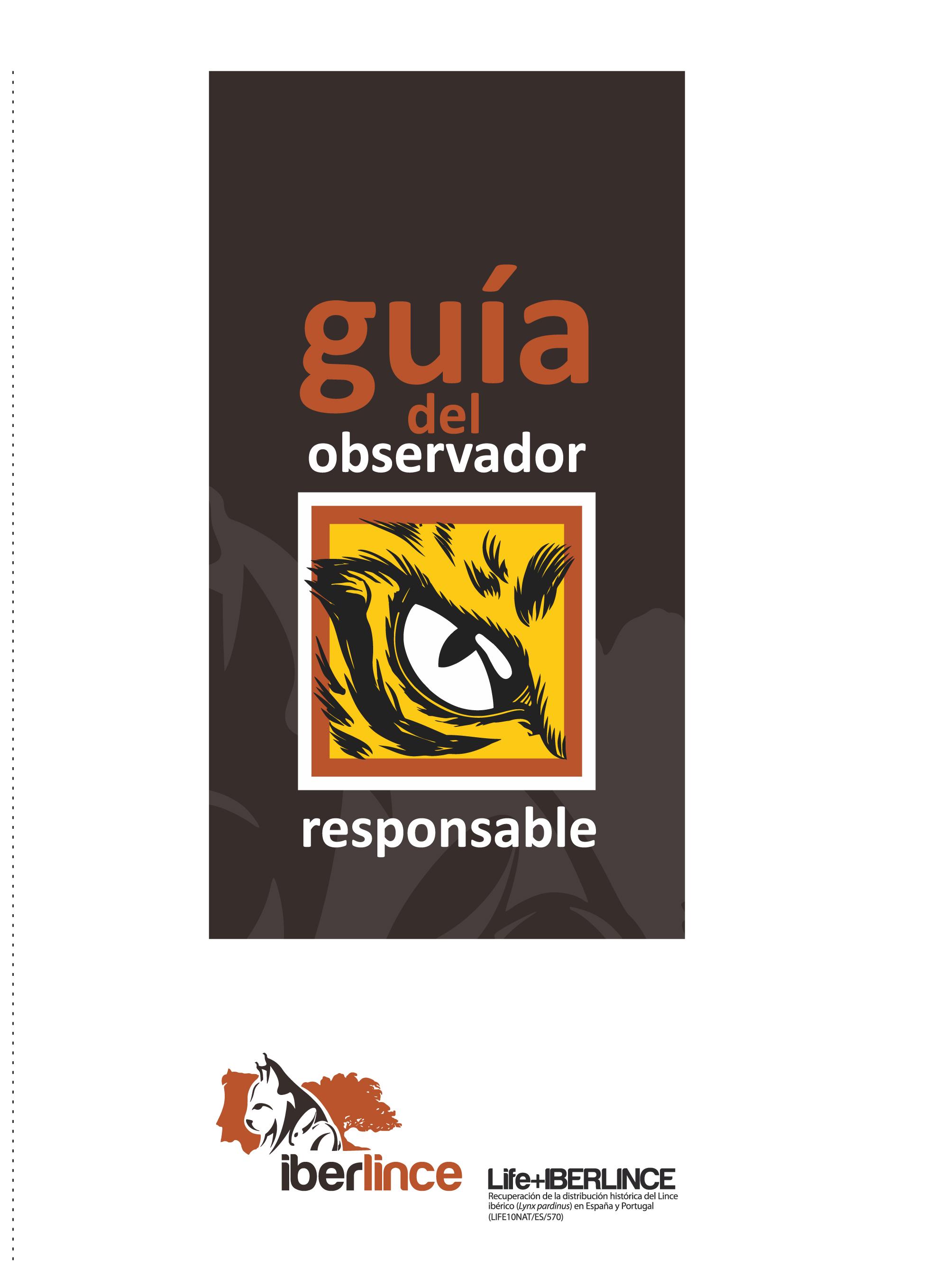 Portada de la Guía del observador responsable Life+Iberlince
